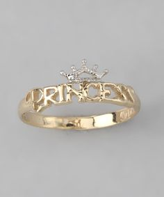 Take a look at this 10k Gold 'Princess' Ring by Disney Jewelry on #zulily today!
