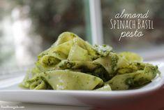 Almond Spinach Basil Pesto   Food Renegade