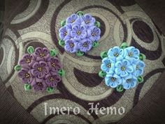 Cute fabric brooches