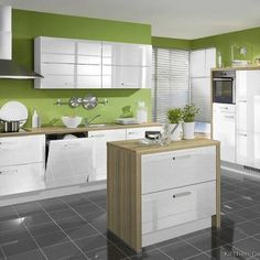 Kitchens With White Cabinets And Green Walls modern white kitchen cabinets #52 (kitchen-design-ideas