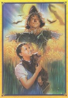 Dorothy and The Scarecrow.