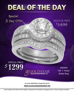 Stunning Diamond Bridal Ring at unbelievably low price.