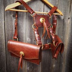 """This warms my heart. Here's the message I just received from the client on this #badass #custom #harness #purse : """"OHMYGOD. It's so perfect. And beautiful. And I love it to pieces. It's better than I ever imagined. Thank you thank you thank you."""" You're welcome, Rebecca.  I'm grateful for the opportunity to bring your vision to life. #leather #leathergoods #madebyhand #madeinamerica #cowgirl #steampunk"""