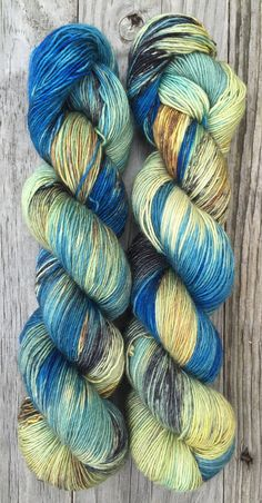 Conchology - Hand Dyed Superwash Merino Wool and Silk Fingering Yarn READY TO…