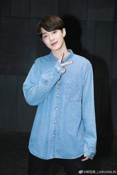 190507 - Lai Kuanlin update on weibo Denim Button Up, Button Up Shirts, Guan Lin, Lai Guanlin, Korean Singer, Actors & Actresses, Rapper, First Love, Celebrities