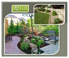 No tienes mucho tiempo para cuidar tu jardín?! Que te parece uno con muchas piedras?!!! #RockGardens ROCKS!!! Zen CO Landscaping tiene muchas ideas ;) #Landscaping #ZenGarden
