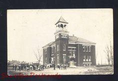 RPPC Shelton Nebraska High School Lyons Nebr 1920 Real Photo Postcard | eBay