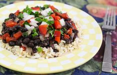 Cuban Inspired Black Beans and Rice recipe | 8 Classic Rice & Bean Dishes From Around The World | vegkitchen.com