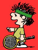 """BADCALL"" BENNIE ~ is the brother of ""Crybaby"" Boobie, and, like his sister, plays against Snoopy and Molly Volley in the tennis doubles.  ""Badcall"" Benny was first referred to on April 15, 1982, when Molly Volley read that she and Snoopy would be playing against him and his sister. Molly tells Snoopy that ""Badcall"" Benny calls everything out, even once when she was opening a can of tennis balls, he called it ""out"". After the game, ""Badcall"" Benny never appeared in Peanuts again."