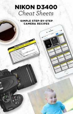 Simple step-by-step cheat sheets, to help you take better photos with your Nikon D3400. Check out my best camera settings for portraits, food, landscapes, nature and more!