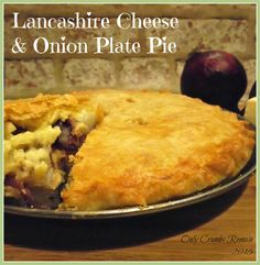 Lancashire Cheese & Onion Plate Pie Made with a regional cheese, this homely cheese and onion pie, is full of flavour and comfort. Cheese Dishes, Veggie Dishes, Savoury Dishes, Cheese Recipes, Veggie Recipes, Vegetarian Recipes, Cooking Recipes, Cheese Pie Recipe, Pastry Dishes