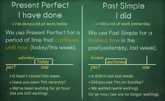 Present Perfect and Present Simpl English Words, English Grammar, Teaching English, Learn English, English Language, Life Skills Classroom, Teaching Skills, Learning Psychology, English