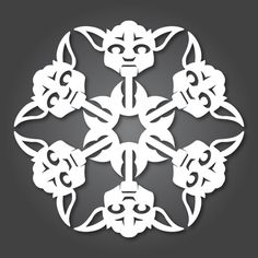 Star Wars Snowflakes! (Templates also available for Admiral Ackbar, Ahsoka Tano, C-3PO, Scout Trooper, Rebel Pilot, Boba Fett, Clone Trooper, Storm Trooper, Darth Vader, R2-D2, and Princess Leia) teen-programming-in-libraries-a-collaborative-boar
