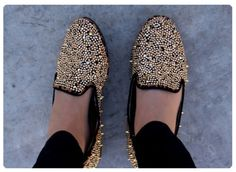 Digging some gold studded flats/loafers, kind of like these ones: http://www.amazon.com/gp/product/B00A3NJIWA/ref=as_li_tl?ie=UTF8&camp=1789&creative=390957&creativeASIN=B00A3NJIWA&linkCode=as2&tag=famistyl06-20&linkId=DOFPVGKAQ6UYAZLH