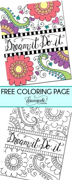 Color My Heart Happy Coloring Page | Free coloring, Dawn nicole and Free