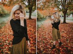 autumn leaves in downtown issaquah | personal style — Jessica Whitaker