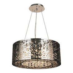 Worldwide Lighting - Aramis LED Light Chrome Finish/Clear Crystal Round Chandelier - This stunning 12-light LED chandelier only uses the best quality material and workmanship ensuring a beautiful heirloom quality piece. Featuring a radiant chrome finish and finely cut premium grade clear crystals with a lead content of 30% for spectacular radiance. The LED light source will illuminate the room with superior energy efficiency, extreme long life, and durability. Worldwide Lighting Corporation…