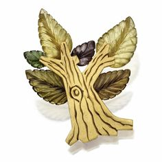 18 karat gold and tourmaline tree brooch, James de Givenchy for Taffin   Lot   Sotheby's