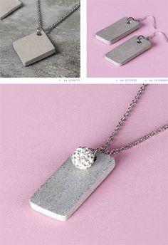 pendentif béton bijoux Rayher tuto DIY savoir et créer caen