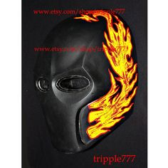 Army of two Airsoft Paintball BB Softair Gun Prop Helmet Salem Costume Cosplay Goggle Mask Maske Masque Flame MA10