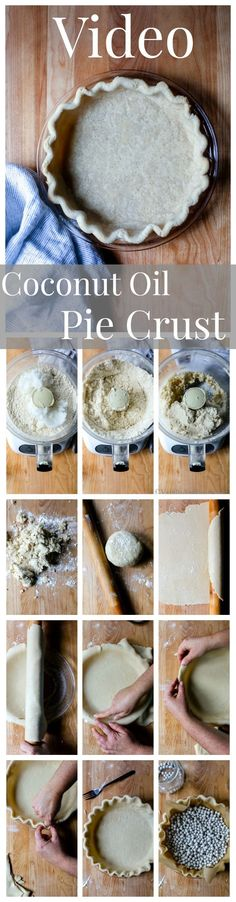 Have you ever wondered How to Make a Coconut Oil Pie Crust? It's easy, flakey and tastes amazing! I'll show you how! Vegan