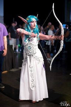 I know it would not really work, but I would feel sooooo pretty! Plus, I totally know how to use a bow for reals!    Tyrande Whisperwind, World of Warcraft