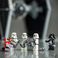 Amazing LEGO universes created by Photographer Samsofy Lego Star Wars, Theme Star Wars, Star Wars Rebels, Lego Stormtrooper, Starwars Lego, Miniature Photography, Lego Photography, Lego Humor, Aniversario Star Wars