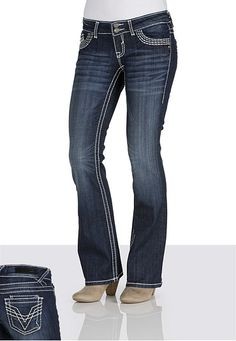 LOVE LOVE these jeans! I love the fit- they feel great!!  Vigoss® 'V' Stitch Dark Wash Jeans available at #Maurices
