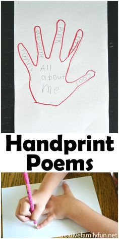 Handprint Poems: Poetry Writing for Kids