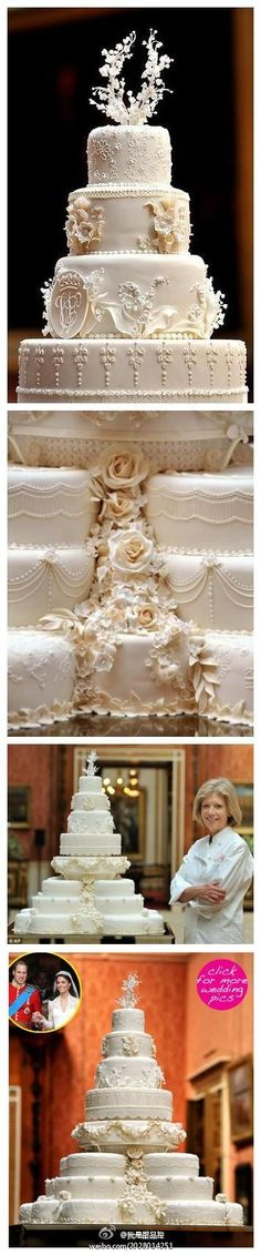 Some better detail of the royal wedding cake. I like the bottom three tiers