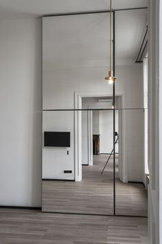 Mirrors can create the illusion of much bigger spaces and reflect extra light