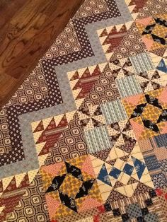 Patchwork Quilt Borders Civil Wars 17 New Ideas Old Quilts, Antique Quilts, Scrappy Quilts, Small Quilts, Vintage Quilts, Amish Quilts, Vintage Sewing, Make Do, Primitive Quilts
