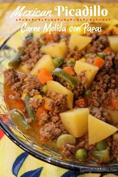 Mexican Picadillo or Ground Beef with Potatoes is a delicious hearty meal that will fill up tummies and warm the soul. Check it out! The post Mexican Picadillo appeared first on Food Monster. Authentic Mexican Recipes, Ground Beef Recipes Mexican, Mexican Picadillo Recipe Ground Beef, Picadillo Con Papas Recipe, Picadillo Recipe With Potatoes, Recepies With Ground Beef, Mexican Ground Beef Casserole, Recipes Using Ground Beef, Mexican Chicken Recipes