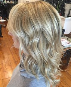 Shiny buttery blonde hair