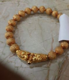 Gold Wax Beads Bangle Approx Wt- 15-20 Grams Gold Bangles Design, Gold Jewellery Design, Baby Schmuck, Gold Drop Earrings, Jewellery Earrings, Temple Jewellery, Rose Gold Jewelry, Baby Jewelry, Schmuck Design