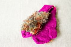 Knitted pink hedgehog cloves by Karitella on Etsy
