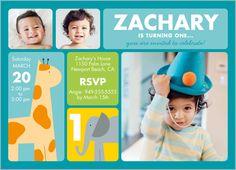 Little Safari Boy 5x7 Stationery Card by Blonde Designs