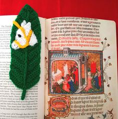 What better combination of lovely things could there be....books and unicorns?  Use this golden, glowing unicorn on his lush green leaf to save your book place, or give him as a gift.  Measures 7.5 inches by 2.5 inches.  In designing this unicorn, I was inspired by those I have seen as figureheads on old sailing ships- so powerful and proud-looking, yet also innocent and good.
