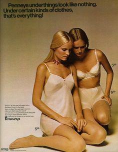 1970 JC Penney lingerie ad