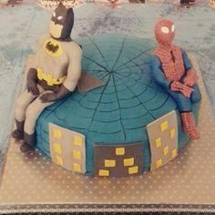 Spiderman batman torte
