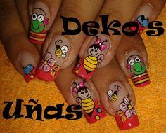 arte Summer Nails, Manicure, Nail Designs, Lily, Nail Art, Fun, Nail Arts, Beauty Bar, Work Nails