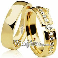 a7f161ea3b35e Aliança top cravejada de diamantes Alianças De Noivado, Alianças De  Casamento, Comprar Aliança,