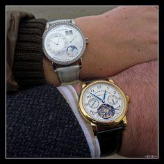 """A Langhe & Söhne 819.048 Lange 1 & 702.025 Tourbograph """"Pour le Mérite""""  Tourbillon Chronograph"""