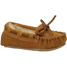 Minnetonka Girls' Cassie Slipper (Toddler-Youth) ($34) ❤ liked on Polyvore featuring shoes, slippers and cinnamon
