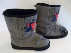 These Spiderman Disney pull on faux sued slipper boots are perfect for your toddler baby boy or girl!