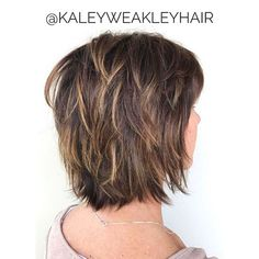 60 Short Shag Hairstyles That You Simply Can't Miss - - Feathered Bob With Bangs And Highlights. Modern Shag Haircut, Short Shag Hairstyles, Shaggy Haircuts, Haircuts With Bangs, Hairstyles Haircuts, Short Textured Haircuts, Modern Hairstyles, Shorter Layered Haircuts, Shag Bob Haircut