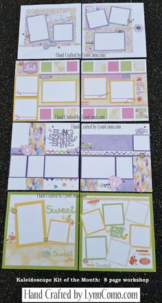 Kaleidoscope Kit of the Month creates 8 pages for Everyday Life. Enjoy the variety of colors giving you versatile designs for your photos.