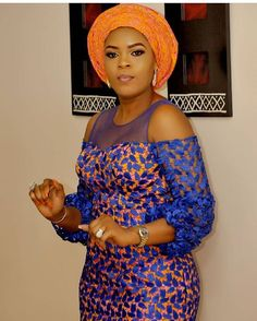 Gorgeous Ankara Asoebi Styling with Modern Outfits - Reny styles African Fashion Ankara, African Print Fashion, Africa Fashion, Nigerian Fashion, African Attire, African Wear, Moderne Outfits, African Lace Dresses, African Print Clothing