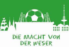Bremen - Fußball Dekorplatte 60x40x4 cm