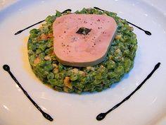 Foie Gras Salad - Haricots verts, toasted walnut, truffle vinaigrette at Petrossian